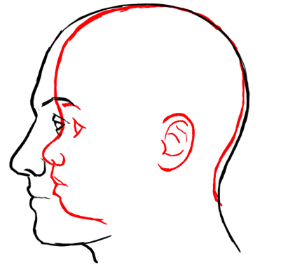 Drawn profile different A faces art different a