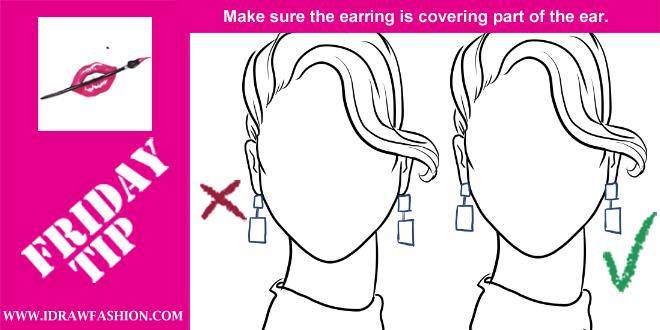 Drawn profile earring Draw in Draw Fashion TIP
