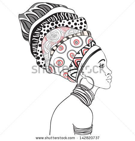 Drawn profile earring Woman earring Portrait of of