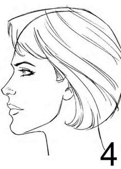 Drawn profile face proportion Line Pinterest Page and Sketch