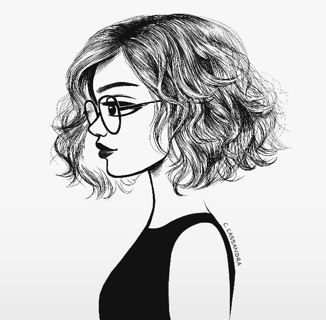 Drawn profile fashion illustration Hair animal be Calin on