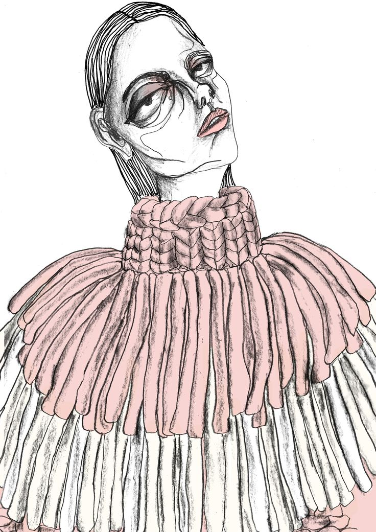 Drawn profile fashion illustration Fashion ArtsThread 20+ illustrations giryungkim