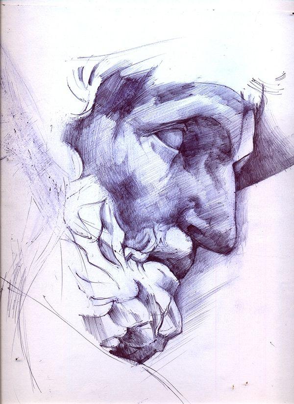 Drawn profile greek face About Statue Art  Bic