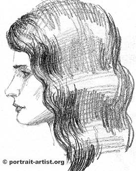 Drawn profile hair To on portraits sketch art