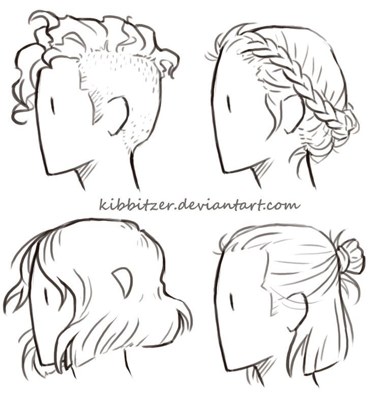 Drawn profile hair And this Best on Pin