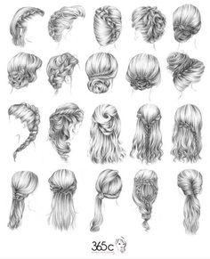 Drawn profile hair Put art hair girl's boy