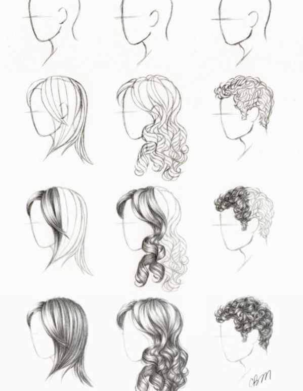 Drawn profile hair Stuff hair about best drawing