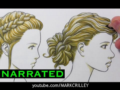 Drawn profile hair Draw How YouTube