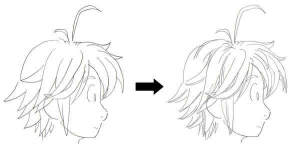 Drawn profile hairline Shade Hair hair (tutoriais) shades
