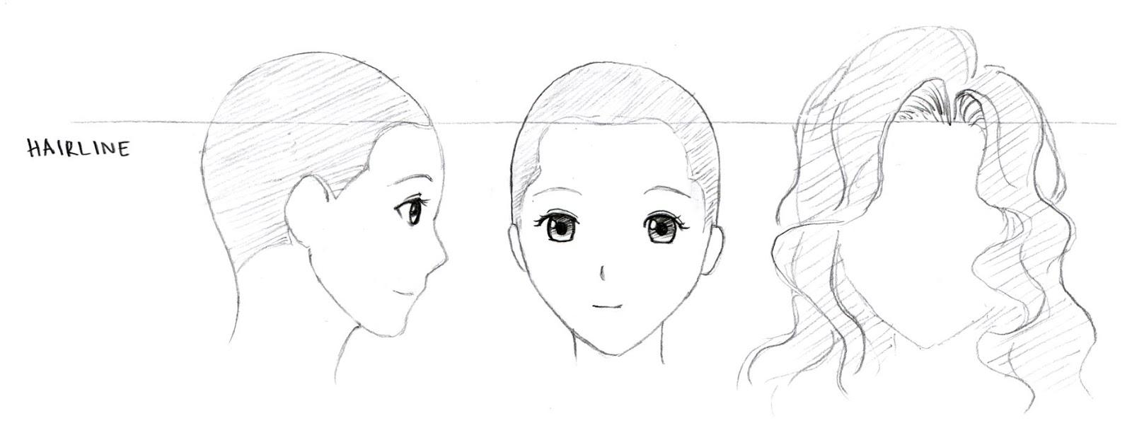 Drawn profile hairline Hair Draw Manga How Manga