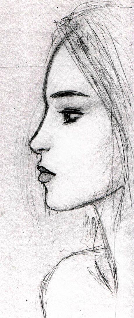 Drawn profile half face Com best deviantart Face @DeviantArt