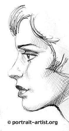 Drawn profile half face Slender eyebrows girl full tomato