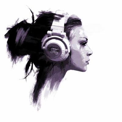 Drawn profile headphone Headphones images about girl drawing