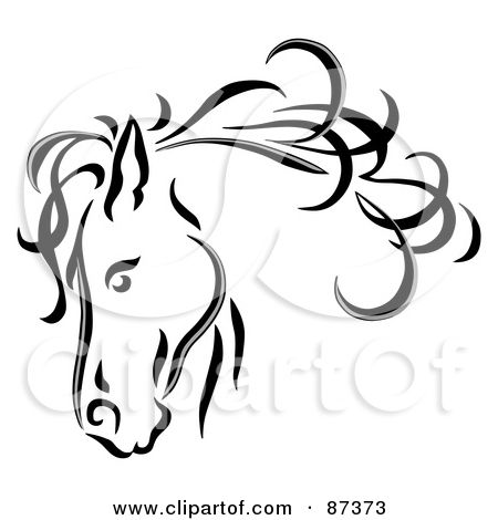 Drawn profile horse head Horse Free a Horse images