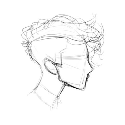 Drawn profile japanese face HairMan on Search: StepDrawing 20+