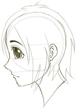 Drawn profile japanese face Anime Pinterest Side faces1 Draw