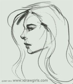 Drawn profile lady side face Sketch Pinterest How Video draw