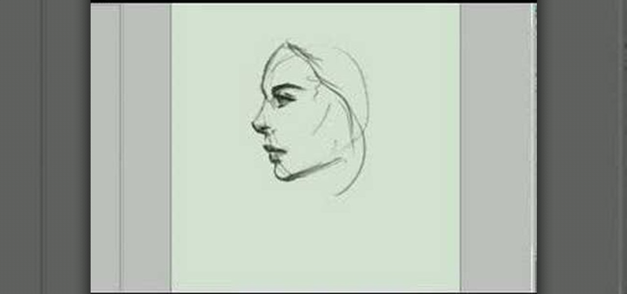 Drawn profile lady side face  face « a How