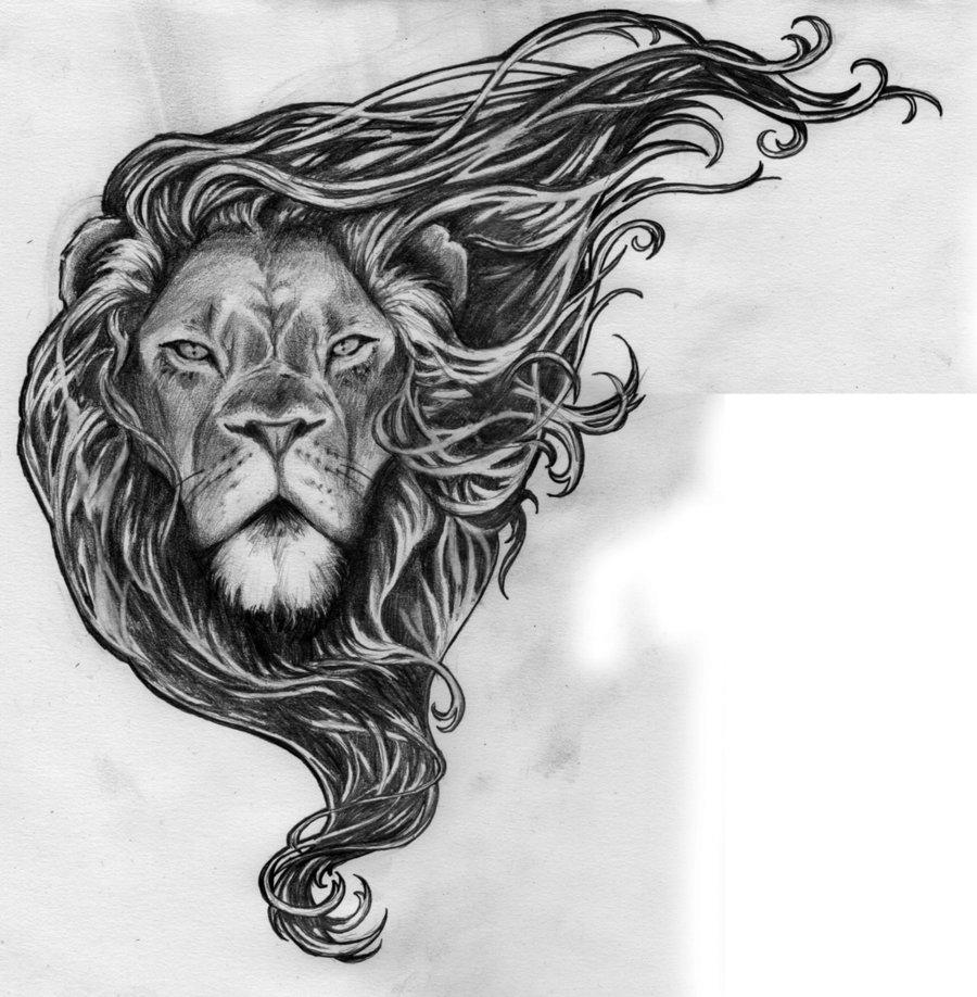 Drawn profile lion Lions/Big quidames sketch tattoo DeviantArt