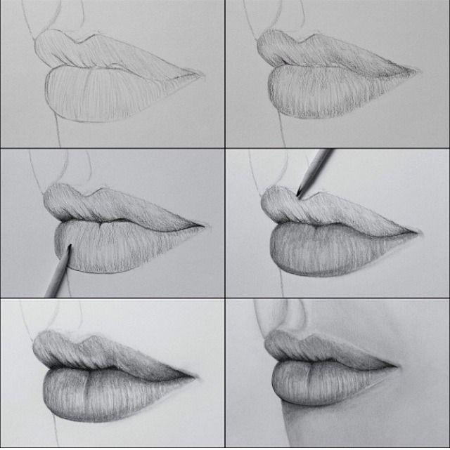 Drawn profile lip Lips Lips How Best ideas