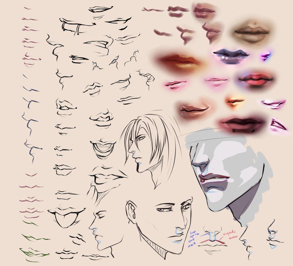Drawn profile lip Moni158 moni158 Drawing Drawing on