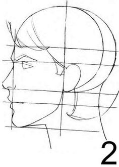 Drawn profile male face Idrawdigital Female  Tuesday: Drawing