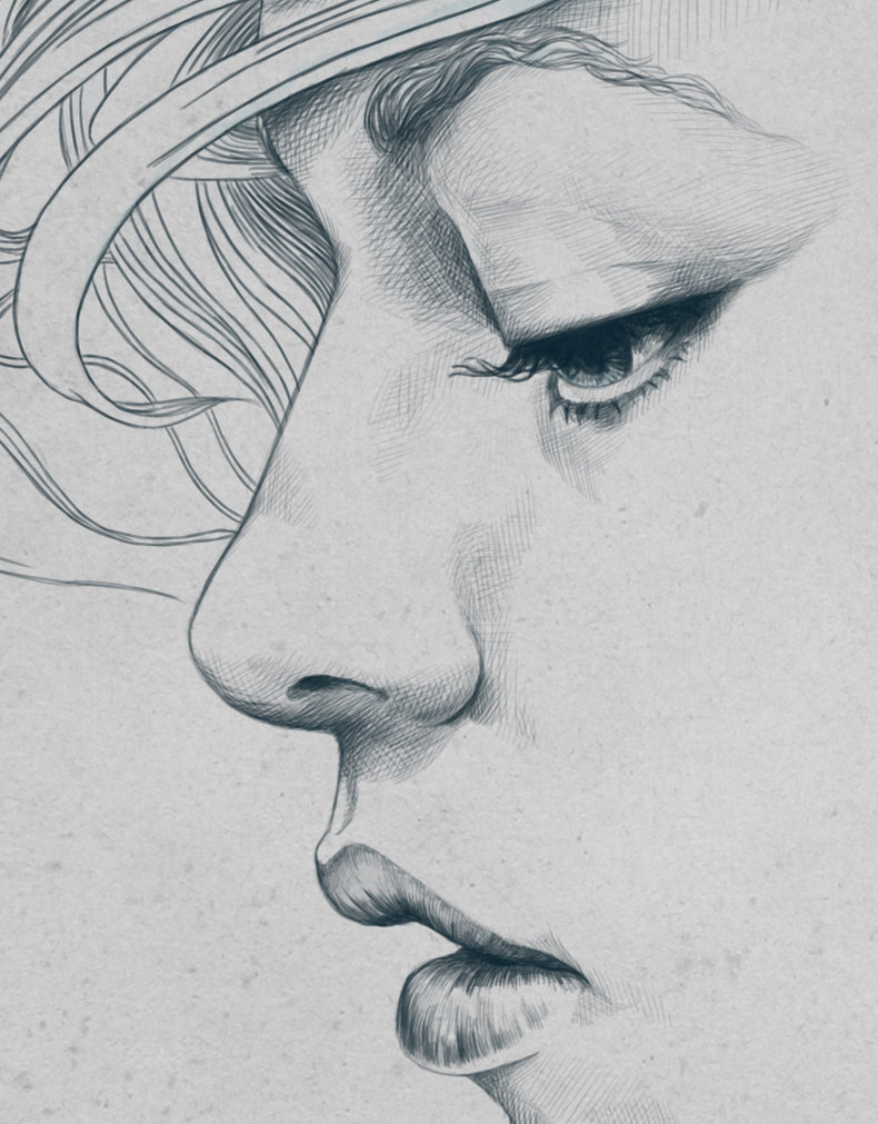 Drawn profile mouth Line Pinterest Draw Drawing drawing
