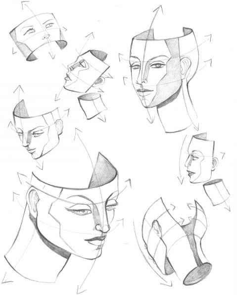Drawn profile mouth Head Mouth Fashion structure Martel