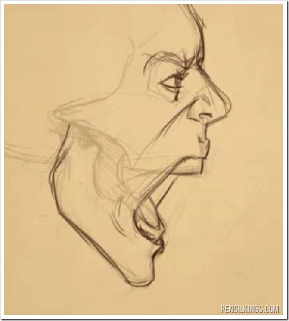 Drawn profile mouth The to drawing from draw