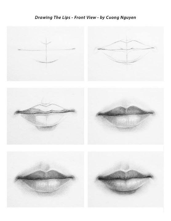 Drawn pice lip Step Cuong Lips by Pinterest