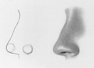 Drawn amd nose Steps easy How to from