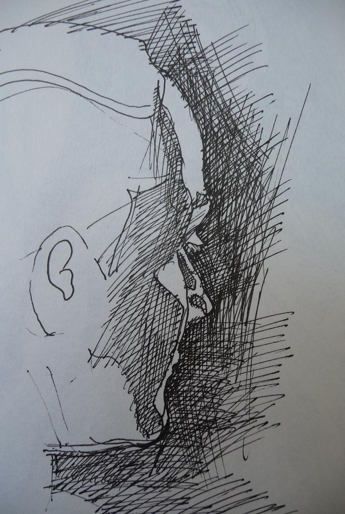 Drawn profile pen Gel profile drawing woman's Pointers