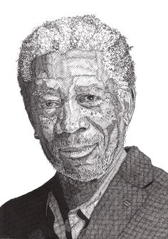 Drawn profile pen Hand by Celebrity  Portraits