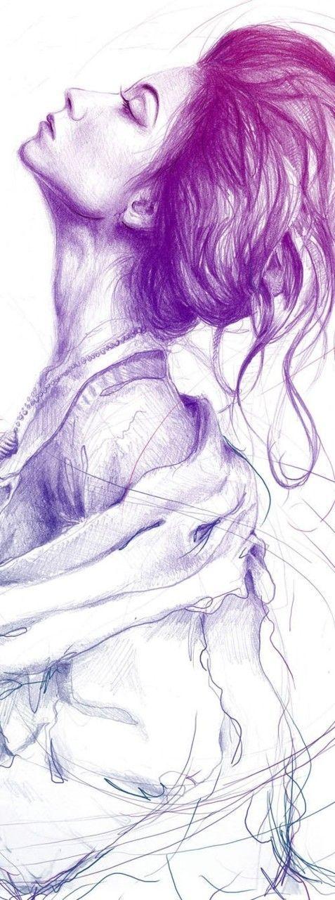 Drawn profile pen Purple this i Pinterest want