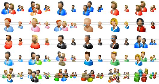 Drawn profile perfect Pack of people Pack Icons