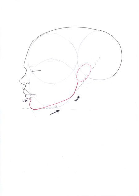 Drawn profile pointy chin Face images best on art