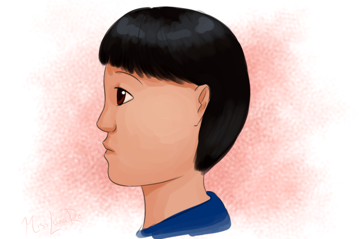 Drawn profile pointy chin Face a Cartoon wikiHow Profile