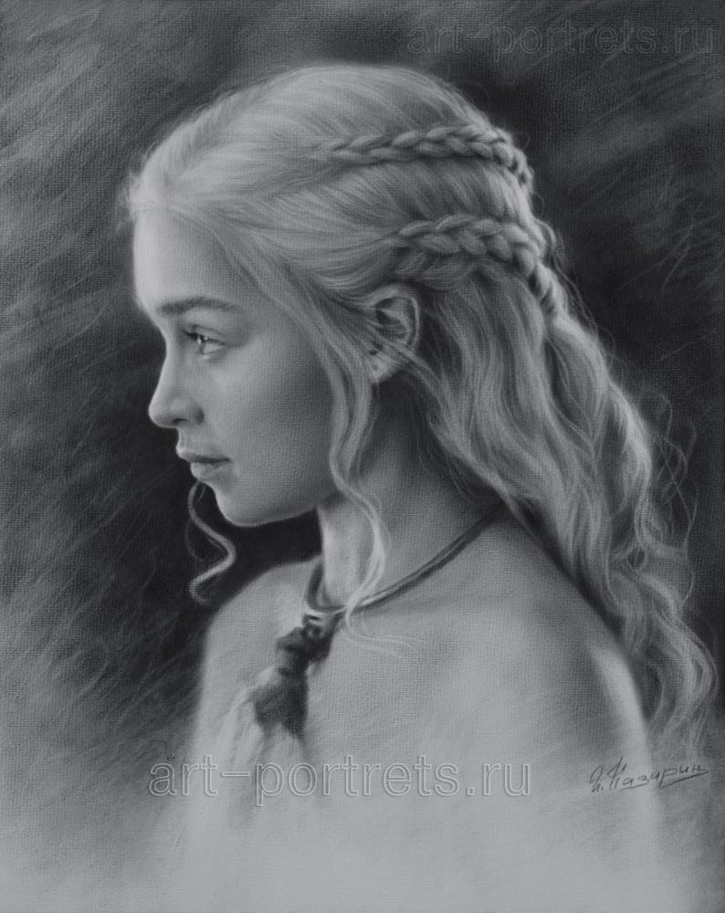 Drawn profile realistic Black Emilia on Profile and