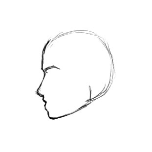 Drawn profile side angle How ShareNoesis  to female