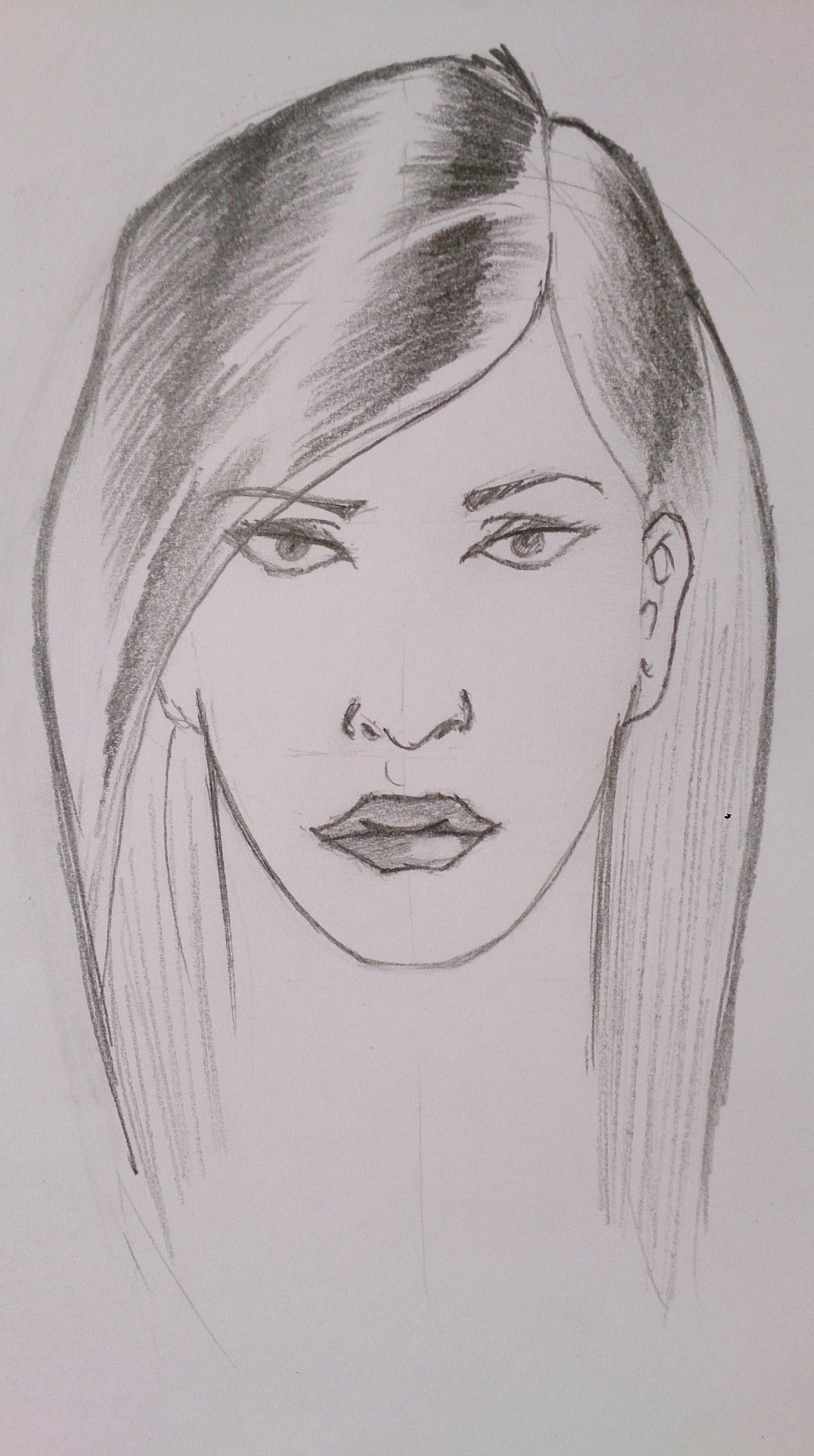 Drawn profile side angle And female Part drawing heads