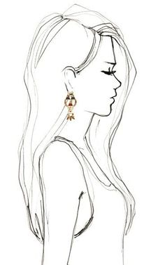 Drawn profile side view Anime drawing Image art view