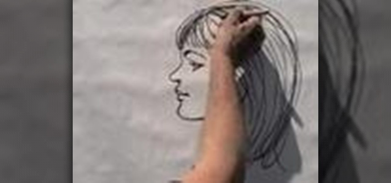 Drawn profile sideways Woman's face Illustration How a