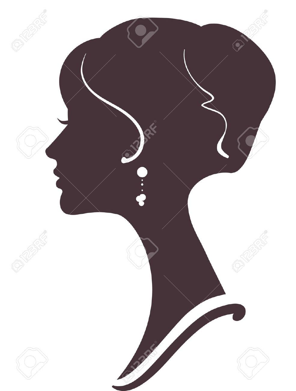 Drawn profile silhouette Vector Silhouettes silhouette face Google