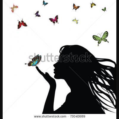 Drawn profile silhouette Profile face Profile vector blowing