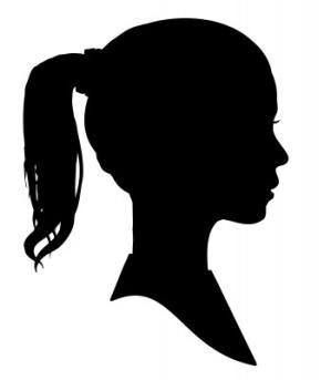 Drawn profile silhouette Child Silhouette Create of on