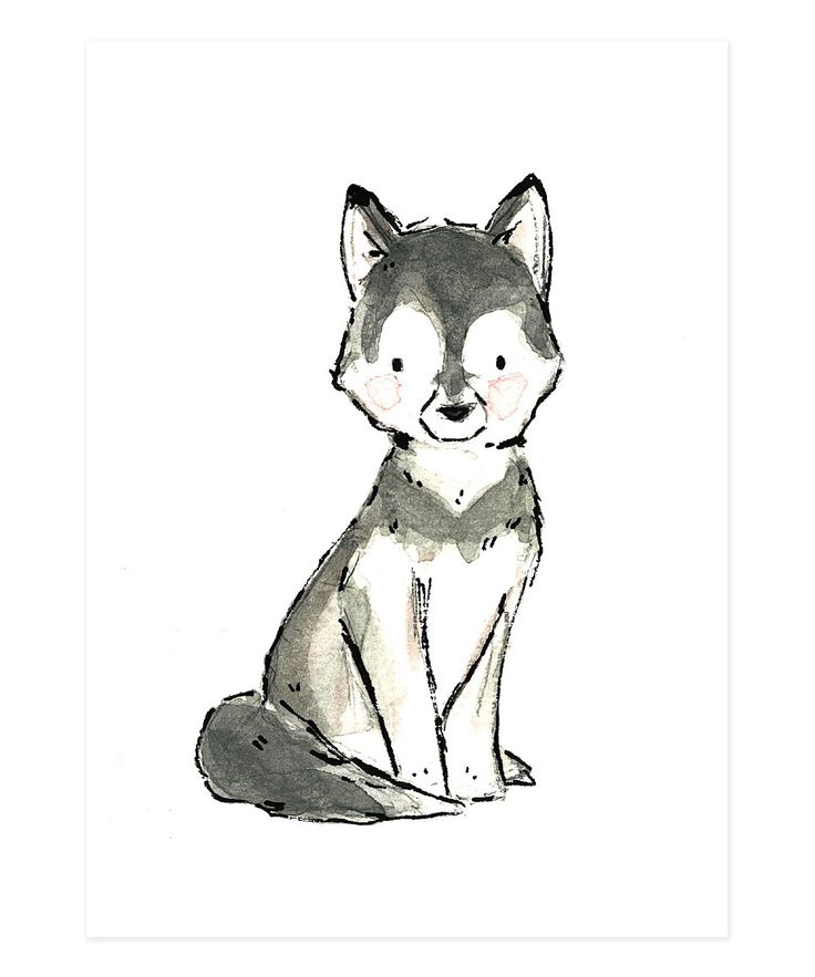 Drawn profile simple Dog wolf Giclée tattoo Best