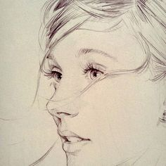 Drawn profile simple Learning David draw sketch garabating:
