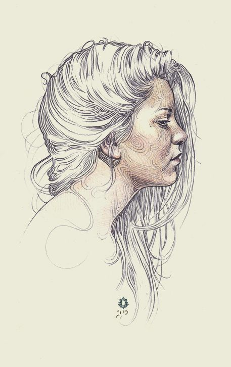 Drawn profile sketch This Pin more Pinterest about