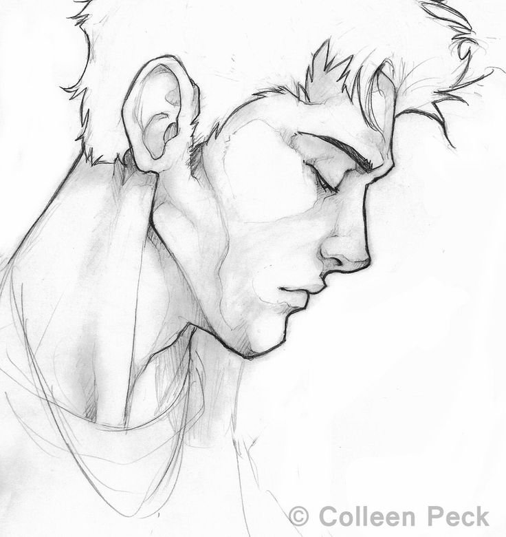 Drawn profile sketch This Pin more on Sketch