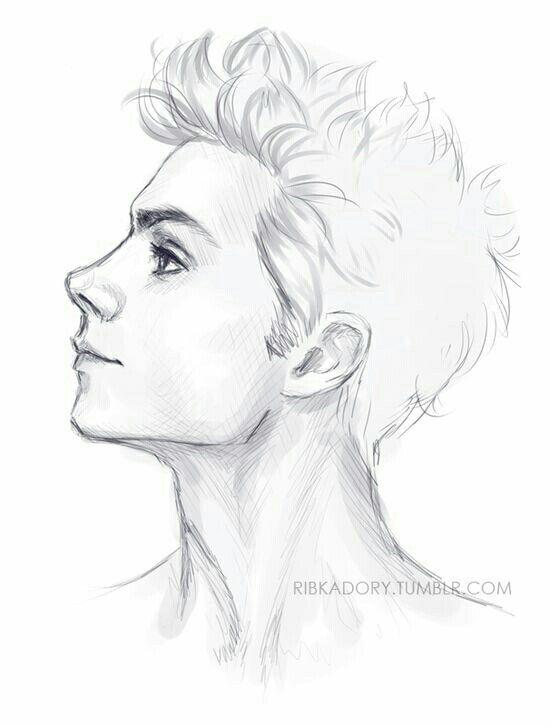 Drawn profile sketch De perfil DrawingDrawing ideas Pinterest